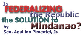 Federalizing The Republic by Senator Aquilino Pimentel, Jr.