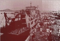 Bombed Ferry (from a PDI photo)